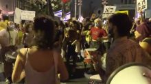Israeli police clash with protesters as thousands rally against Netanyahu