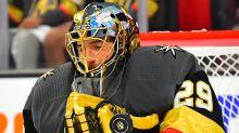 Traded goaltender Marc-Andre Fleury will play for Chicago Blackhawks