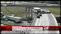 Small Plane Lands On Arlington Highway