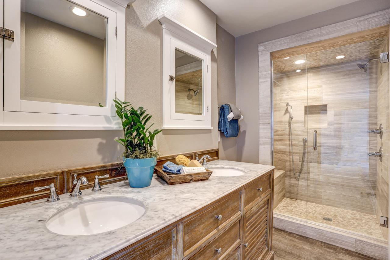 "<p>Make sure your bathroom will age gracefully along with you. If you're going to remodel it anyway, you will never regret adding <a href=""http://bit.ly/1POWh0p"" rel=""nofollow noopener"" target=""_blank"" data-ylk=""slk:universal design"" class=""link rapid-noclick-resp"">universal design</a> features that accommodate users of all ages and physical capabilities. Typical UD features include handheld sprays, grab bars, wider doors and curbless showers. It's a minimal expense to install these features during construction compared to adding them later, and modern versions look sophisticated and design-forward, as in this sleek bath from Greige Design. (Photo by KC Sterling for Greige Design)</p>"