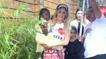 Com famosos, Giovanna Ewbank e Bruno Gagliasso celebram 5 anos de Titi