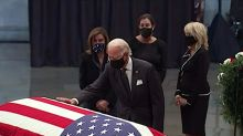 The Bidens, Pences, lawmakers pay their final respects as John Lewis lies in state at U.S. Capitol