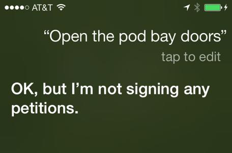 Talking to Siri: No solicitors please
