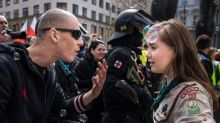 Girl Scout stands up to neo-Nazi at Czech rally