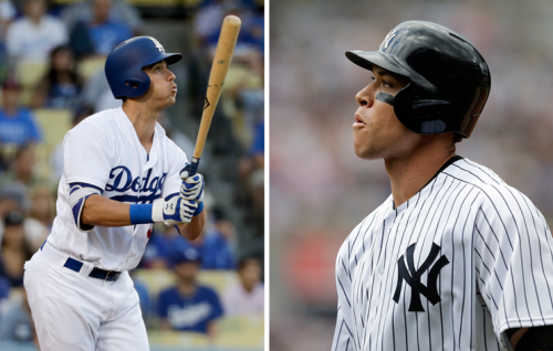 Rookies Cody Bellinger and Aaron Judge are part of MLB's home-run boom. (AP)