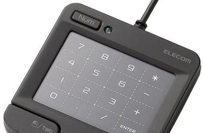 Elecom's USB numeric touch keypad does touch gestures on the side
