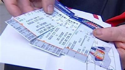 Fans Brave Cold, Crowds For Playoff Tickets