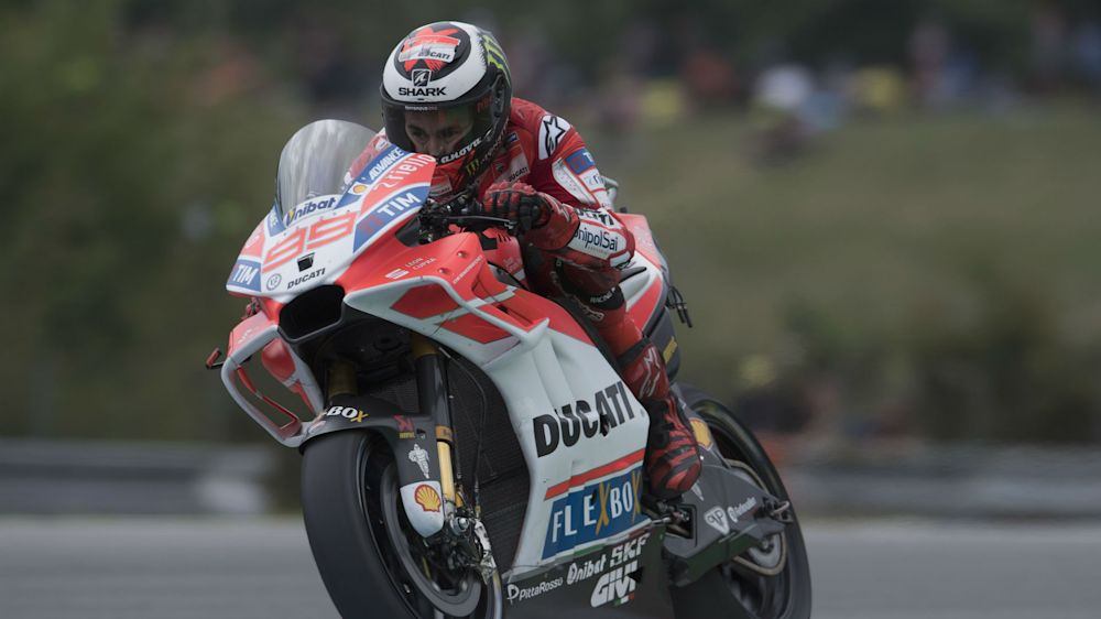 Lorenzo quickest as Marquez suffers minor crash ahead of title showdown