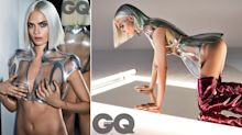 Cara Delevingne almost reveals all for futuristic GQ cover
