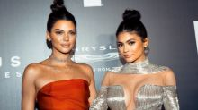 Kendall and Kylie Jenner Twin in Topknots at Golden Globes Afterparty