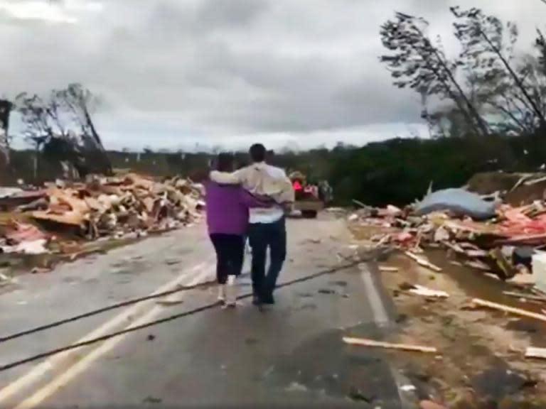 Alabama tornado kills at least 14 including children as severe weather destroys homes