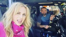 'SAS: Who Dares Wins' star Ant Middleton poses with Rebel Wilson as they film new show