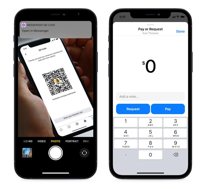 You can now send payments in Facebook Messenger with QR codes.