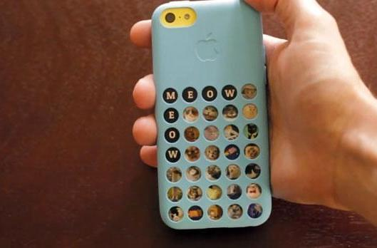 Fill your iPhone 5C's sad, empty case holes with CaseCollage's cat faces (and other stuff)
