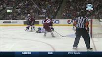 Bissonnette scores off of a deflection