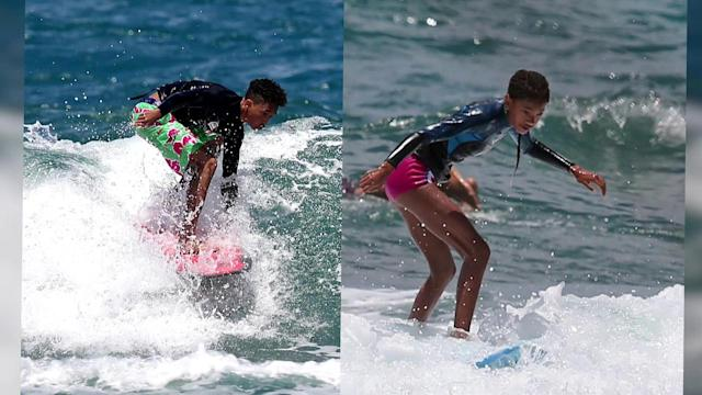 Jaden Smith Surfs With Family in Hawaii
