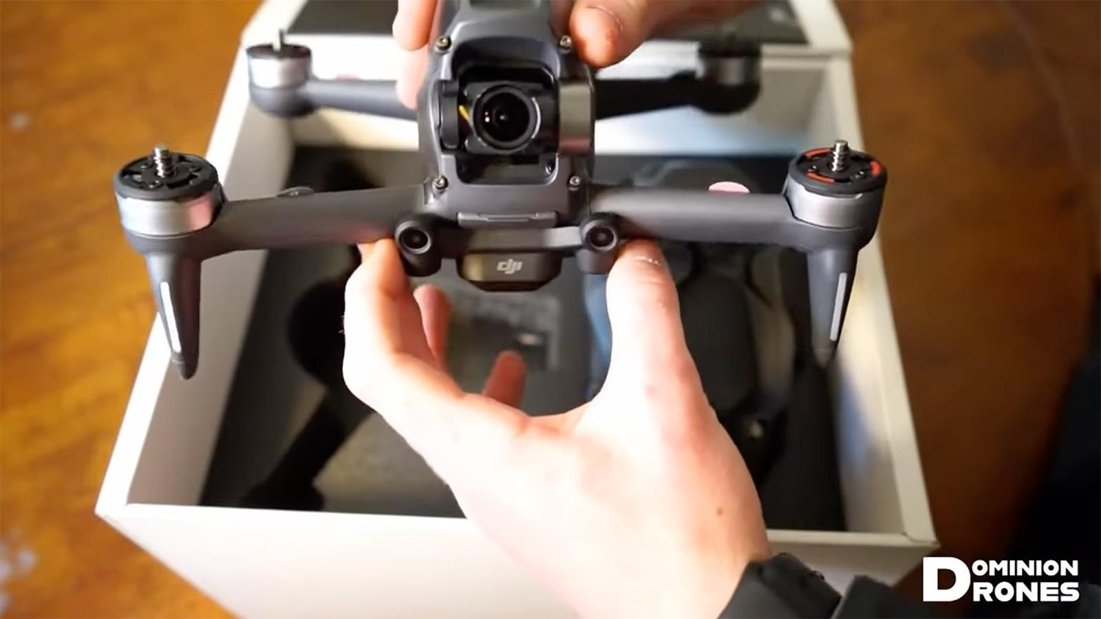 DJI's future first-person drone surfaces in an unboxing video - Engadget
