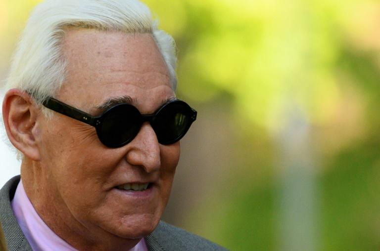 Roger Stone, a former advisor to US President Donald Trump, is facing sentencing for lying to Congress about his role in Russian meddling in the 2016 election (AFP Photo/Andrew CABALLERO-REYNOLDS)