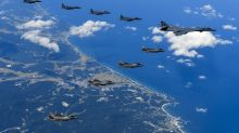 US warplanes fly off North Korea coast in new show of force