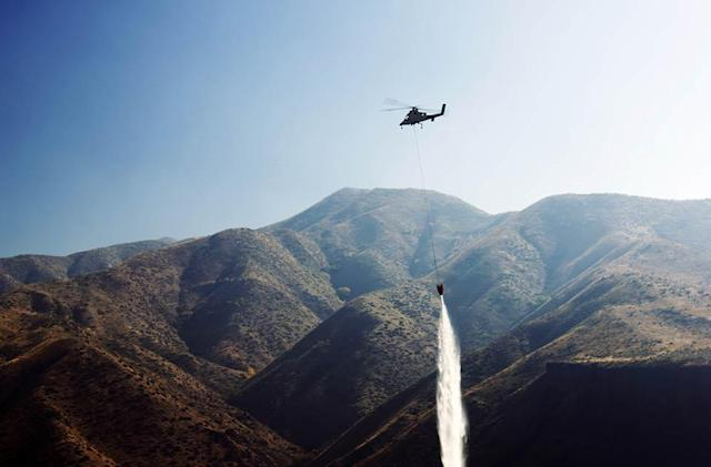 Authorities test autonomous helicopter's firefighting capabilities