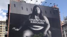 Plus-size rapper unfazed by fatphobic tweet about Calvin Klein billboard