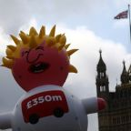 'Boris blimp' takes to the London skies in pro-EU protest