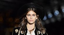 Body Glitter and Kaia Gerber Featured in YSL's Menswear Show