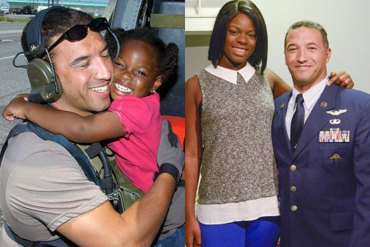 Air Force Vets Touching Reunion with Katrina Girl