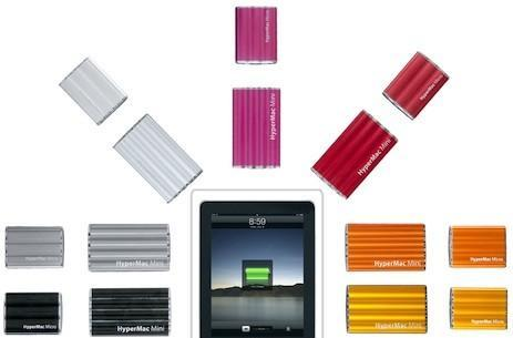 HyperMac Micro, Mini batteries get iPad / iPhone 4 charging support, yet more color options