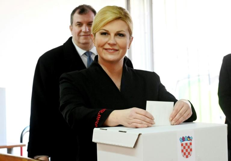 Grabar-Kitarovic campaigned on a slogan of 'real Croatia' (AFP Photo/Denis LOVROVIC)