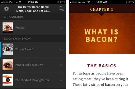 Cook better bacon with the Better Bacon Book for iOS