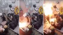 Quiso soplar las velas de su pastel de cumpleaños y no creerás lo que le sucedió