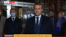 """Le professeur décapité, victime d'un """"attentat terroriste islamiste caractérisé"""", affirme Macron"""