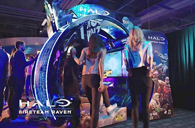 The 'Halo' arcade game is playable at every Dave & Buster's