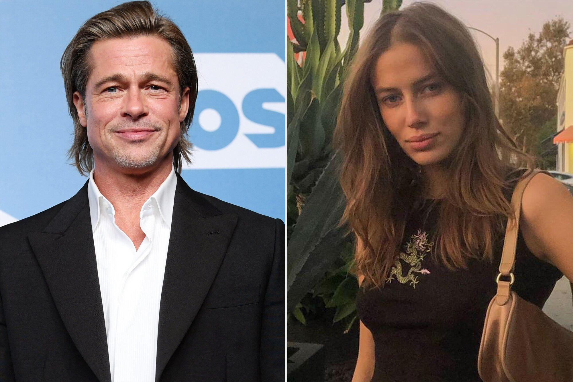 Brad Pitt And New Girlfriend Nicole Poturalski Were Very Flirty Last Year At An Event Source