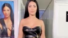 Simaria desfila com cinto Versace de R$ 9,2 mil