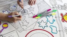 This Washable Christmas Cookie Coloring Tablecloth Is the Perfect Way to Entertain Kids