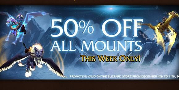 50% off all Blizzard store mounts this week