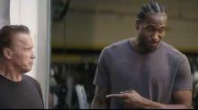Kawhi teams up with Schwarzenegger in bizarre 'Terminator' ad