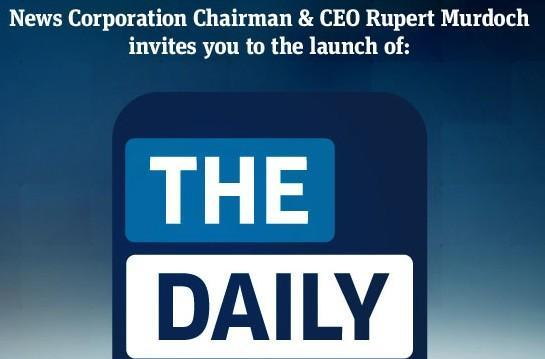 News Corp and Apple set date for The Daily launch: February 2nd