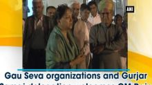 Gau Seva organizations and Gurjar Samaj delegation welcomes CM Raje