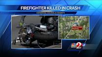 Firefighter hit, killed on motorcycle