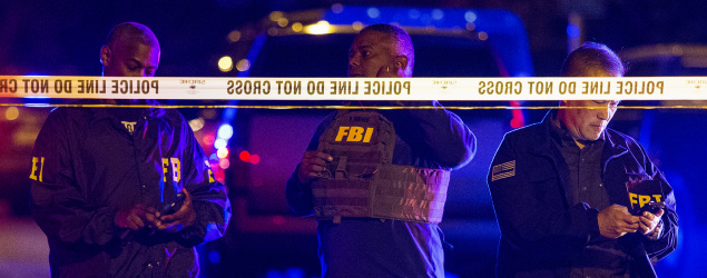FBI agents work at the scene of the most recent explosion in Austin, Texas. (AP)