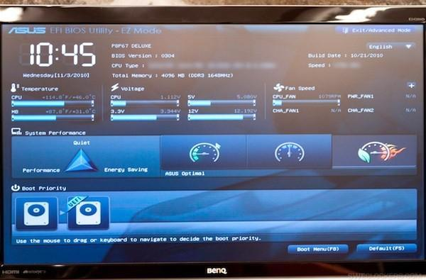 Swedish website tries out Sandy Bridge motherboard with BIOS-replacing UEFI