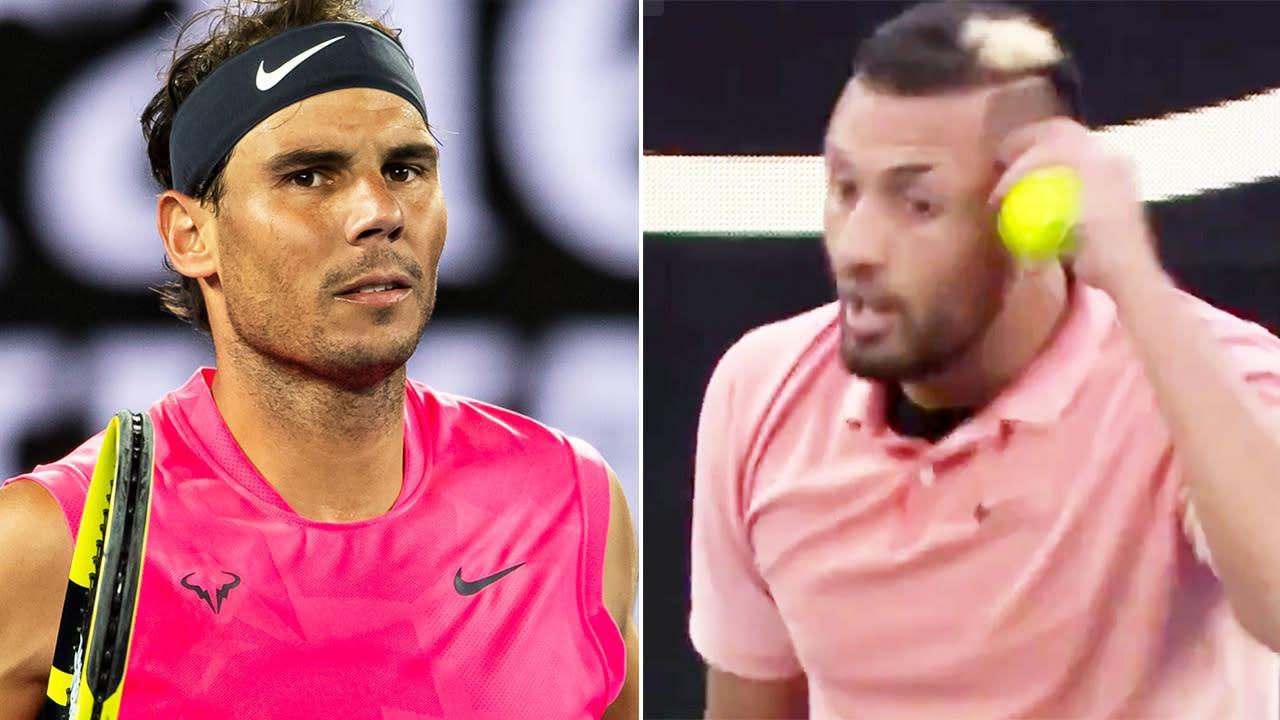 'That's it': Rafa Nadal responds to Nick Kyrgios' brutal on-court mockery