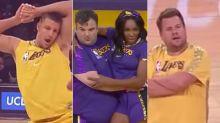 Los Angeles Lakers' Newest Cheerleaders: Rob Gronkowski, Venus Williams, James Corden, Ian Karmel