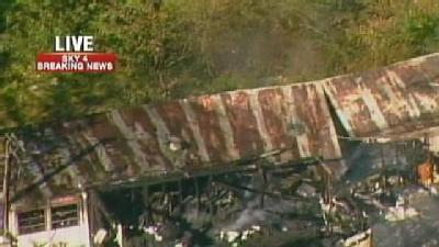Fire Burns Trailer In Murrysville