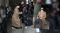 Influential Couple Kim Kardashian And Kanye West Arrive At LAX