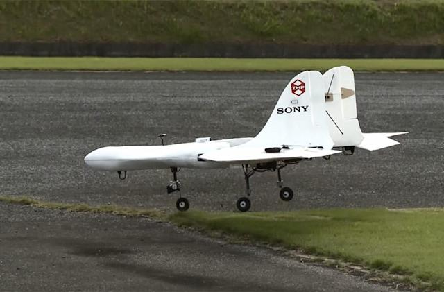 Watch Sony's prototype drone do a vertical takeoff