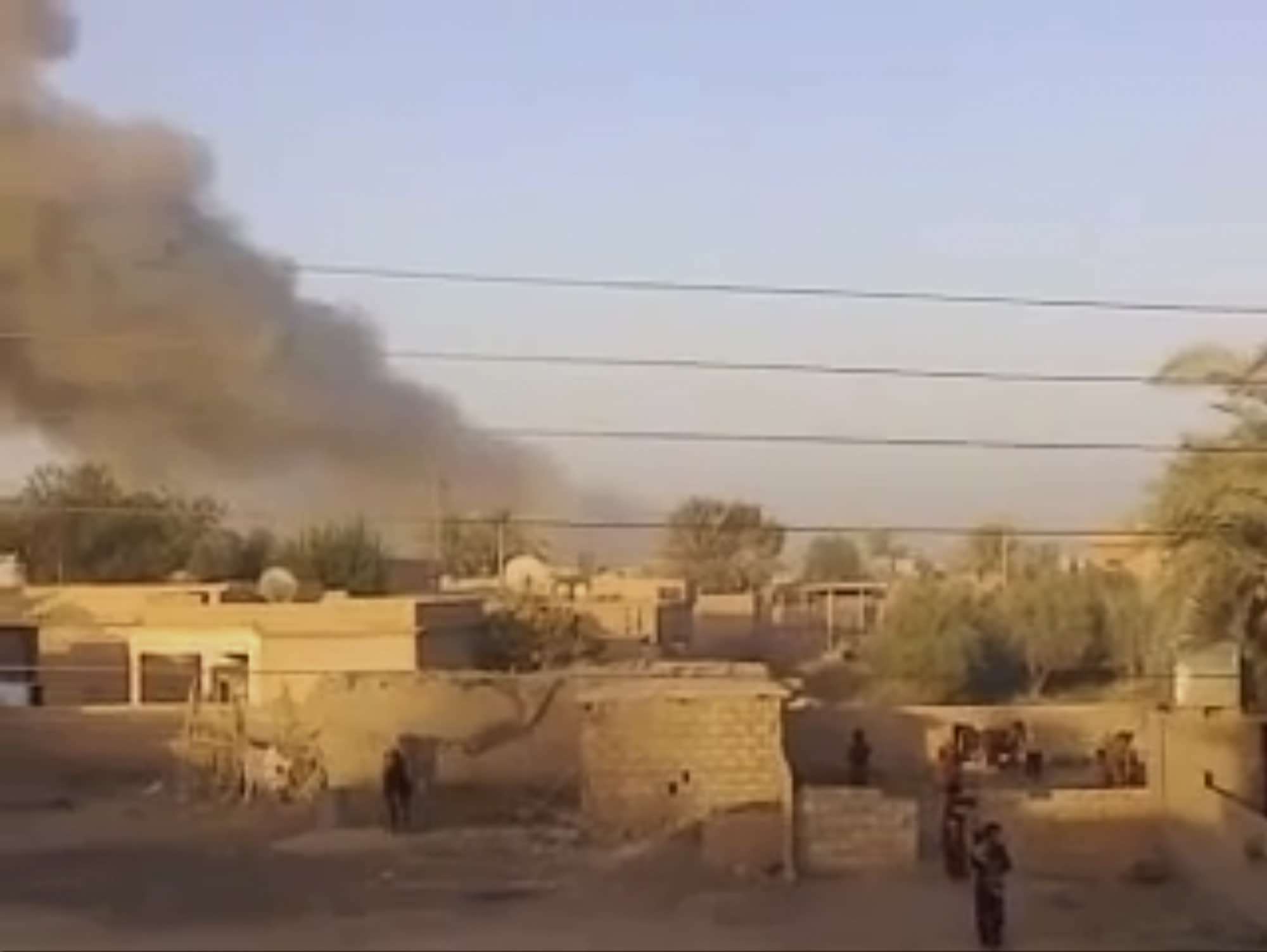 This image made from video provided by Deir Press Network and accessed by AP video on Thursday, Aug. 23, 2012 purports to show smoke rising after a bombing in Deir El-Zour, Syria. Across the country, scores of people died in shelling and clashes, according to the Britain-based Syrian Observatory for Human Rights and the Local Coordination Committees. The bloodshed coincided with the departure from the Syrian capital on Thursday of the last of the United Nations military observers after their mission headed by former U.N. Secretary General Kofi Annan, meant to help end the bloodshed in Syria, failed. (AP Photo/Deir Press Network via AP video) THE ASSOCIATED PRESS HAS NO WAY OF INDEPENDENTLY VERIFYING THE CONTENT, LOCATION OR DATE OF THIS PICTURE.